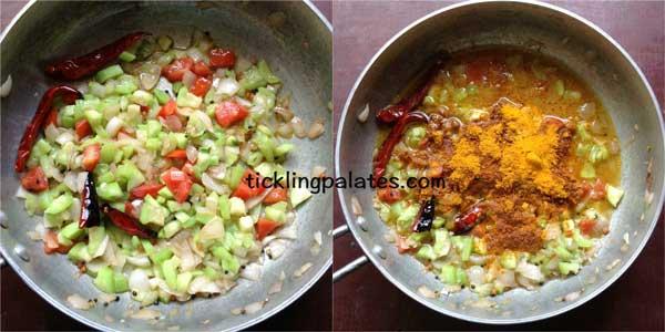 peerkangai oorpu recipe step2