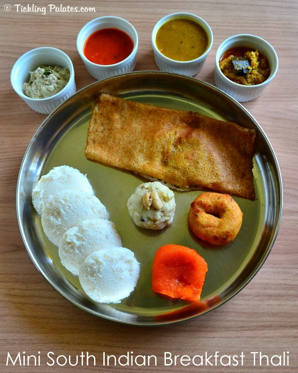 South indian breakfast thali healthy tiffin recipes tickling palates south indian breakfast thali forumfinder Images
