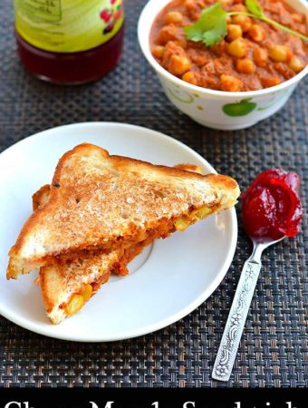 chana masala sandwich recipe