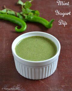 Mint Yogurt Dip Recipe
