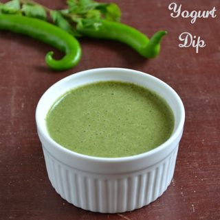 mint yogurt dip recipe