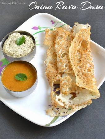 Onion Rava Dosa Recipe – Instant Rava Dosa Recipe