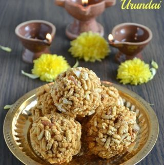 pori urundai recipe