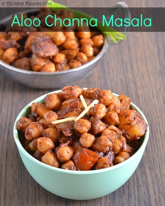 Aloo Chana Masala Aloo Chole Recipe Tickling Palates