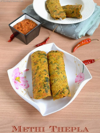 Methi Thepla Recipe or Gujarathi Methi Thepla | Methi Recipes