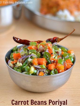 carrot beans poriyal recipe