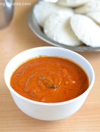 Easy Garlic Tomato Chutney Recipe | Spicy Tomato Kara Chutney | Side Dish For Idli Dosa