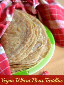 Homemade Vegan Whole Wheat Flour Tortillas Recipe
