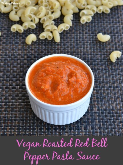Vegan Roasted Red Bell Pepper Sauce