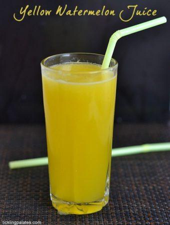 Yellow Watermelon Juice Recipe