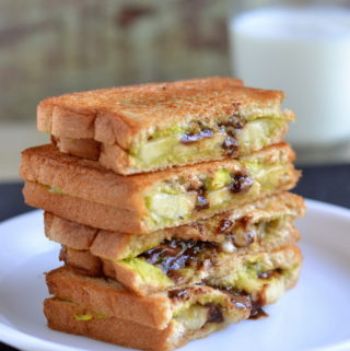 avocado chocolate grilled sandwich recipe
