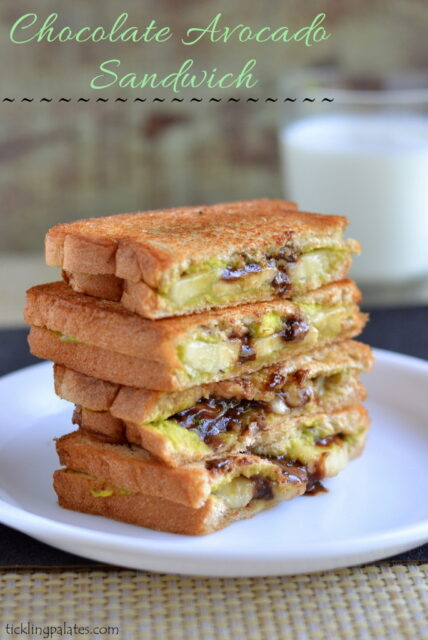 avocado chocolate grilled sandwich recipe