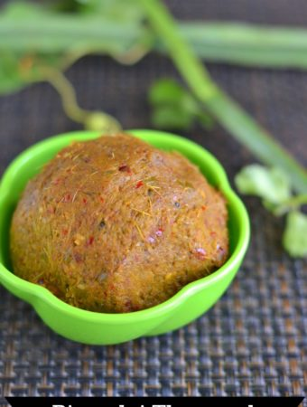 Pirandai Thuvaiyal Recipe or Adamant Creeper Chutney