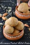 Thinai Badam Peda Recipe – Foxtail Millet Almond Ladoo Recipe