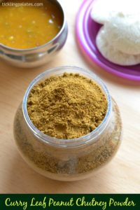 Curry Leaf and Peanut Idli Milagai Podi Recipe
