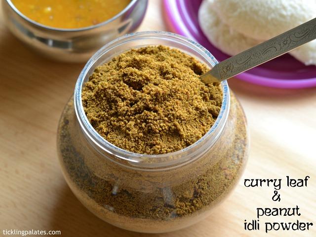 Curry leaf peanut chutney powder