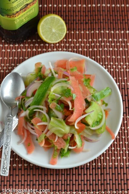 Shaved Cucumber carrot salad recipe