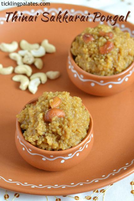 millet sweet pongal