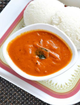 Red Capsicum Chutney – Red Bell Pepper Chutney Recipe