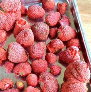 homemade frozen strawberries