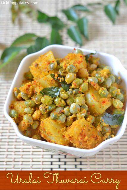 potato thuvarai curry