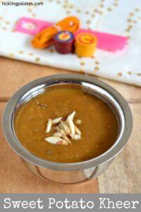 Sweet Potato Kheer Recipe – Sakkarai Valli Kizhangu Payasam