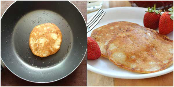 how to make eggless pancakes-3