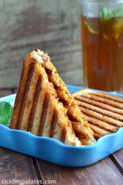 paneer grilled sandwich recipe