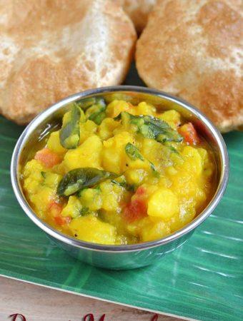 Poori Masala Recipe – How to make Potato Masala for Poori