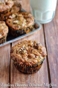 Eggless Banana Muffins Recipe – How to make Eggless Banana Walnut Muffins