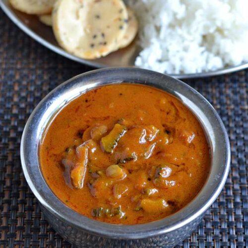 Pavakkai puli kulambu recipe – How to make Pavakkai Puli Kuzhambu