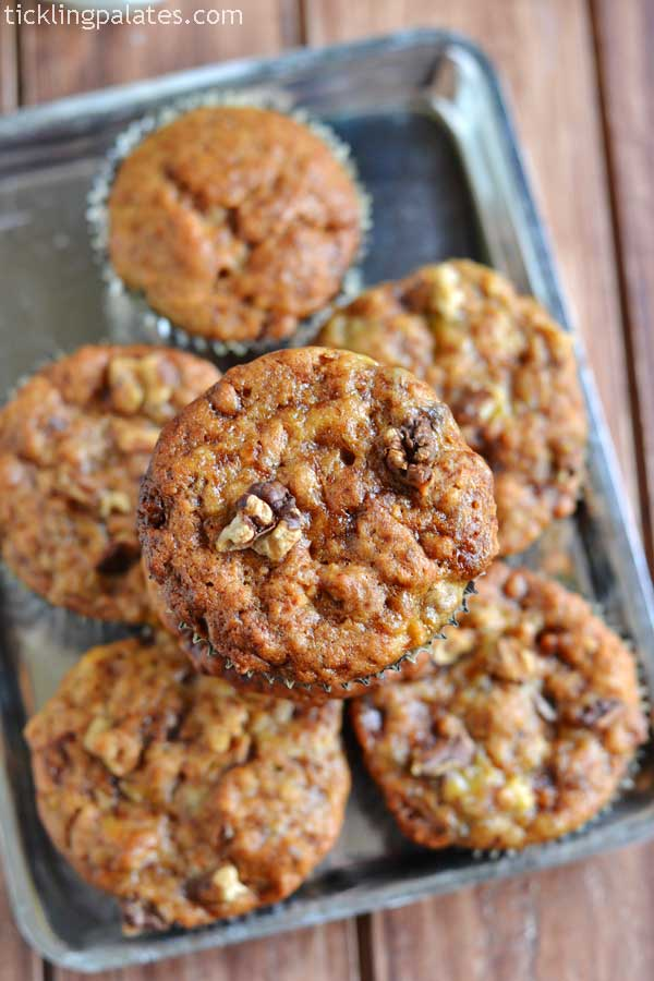 vegan banana walnut muffins recipe