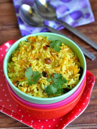 Carrot Rice Recipe – How to make Carrot Pulao