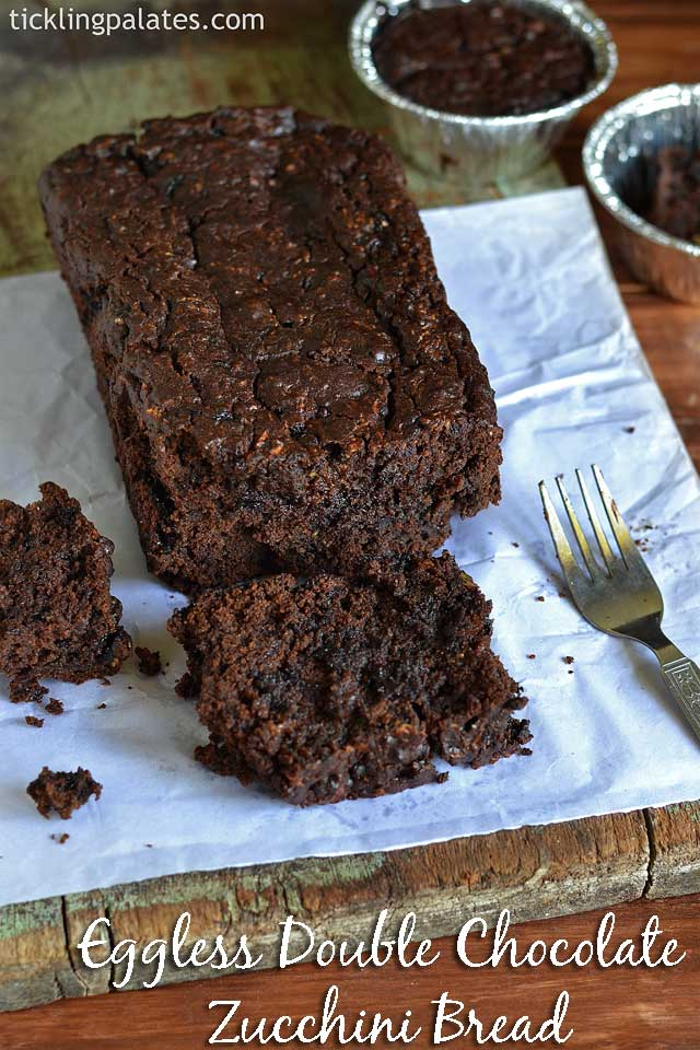 Eggless Double Chocolate Zucchini Bread Recipe