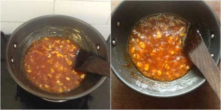 corn flour halwa recipe05