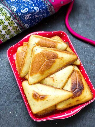 Eggless Lemon Pillow Cake Recipe