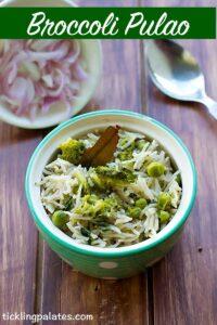 Broccoli Pulao Recipe – Broccoli Rice Recipe