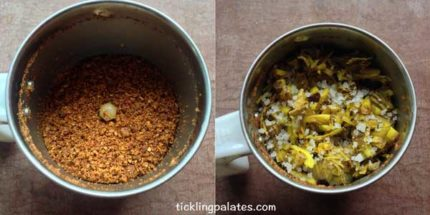 vazhaipoo thogayal recipe step3