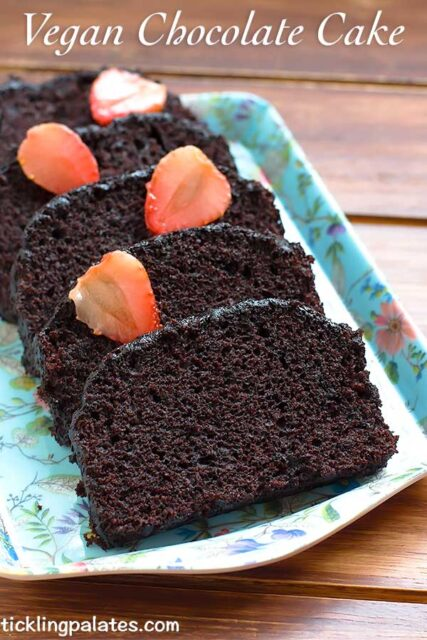 vegan dark chocolate cake recipe