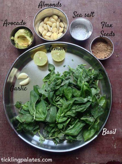 basil flax seed pesto ingredients