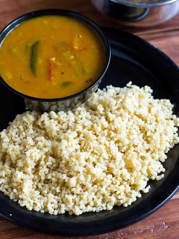 cook millets in pressure cooker