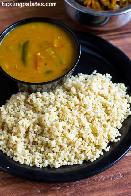 cook millets in pressure cooker