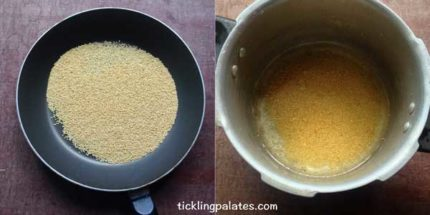 how to cook millets step-1