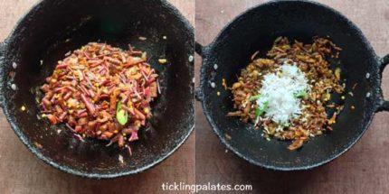 keerai thandu poriyal recipe step4