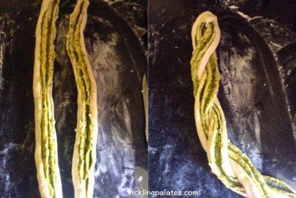 braided pesto bread step2