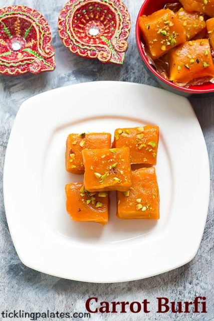 Carrot Burfi recipe