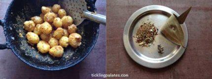 baby potato biryani recipe step3