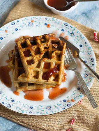 Organic Eggless Gingerbread Waffle Recipe