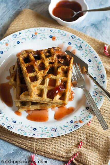 eggless gingerbread waffle recipe