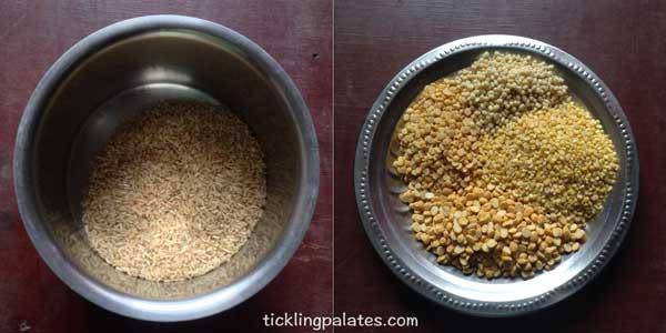 brown rice adai recipe step1